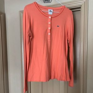 Lacoste coral long sleeve